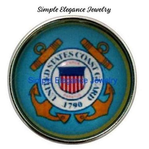 Coast Guard Snap Charm 20mm for Snap Charm Jewelry - Snap Jewelry