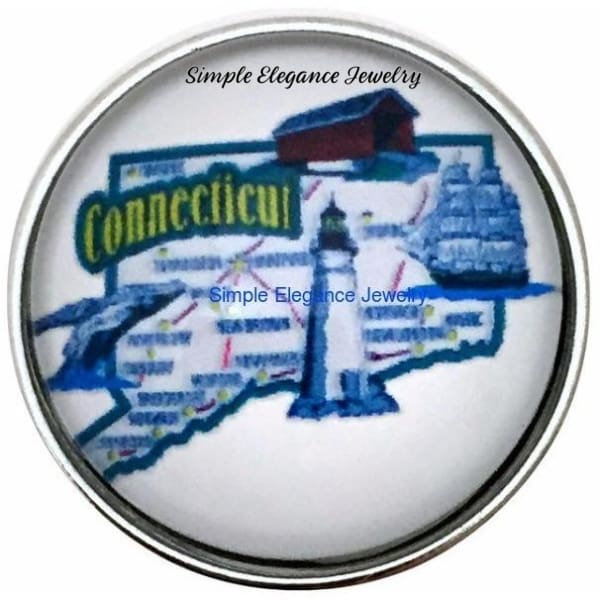 Connecticut State Snap 20mm for Snap Charm Jewelry - Snap Jewelry