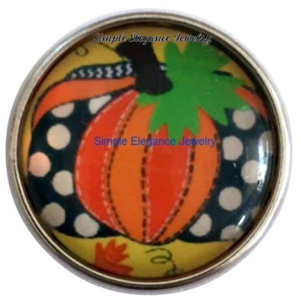 Country Pumpkin Snap 20mm for Snap Jewelry - Snap Jewelry