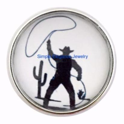 Cowboy Roper Snap 20mm for Snap Jewelry - Snap Jewelry