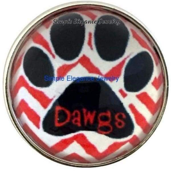 Dawg Paw Bubble Snap 20mm for Snap Jewelry - Snap Jewelry