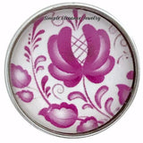 Deep Rose Snap Charm Collection 20mm (5 Choices) - 101 - Snap Jewelry