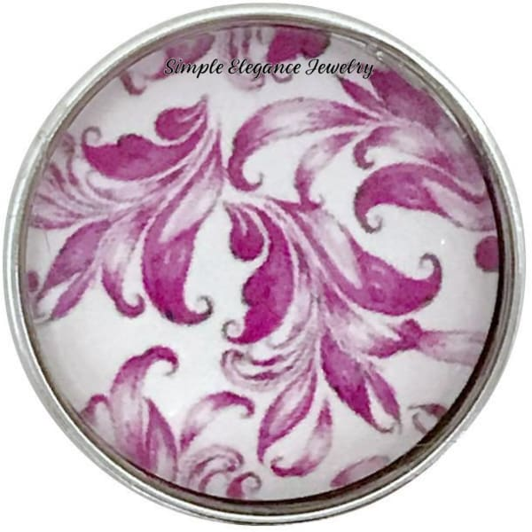 Deep Rose Snap Charm Collection 20mm (5 Choices) - 102 - Snap Jewelry
