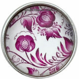 Deep Rose Snap Charm Collection 20mm (5 Choices) - 105 - Snap Jewelry