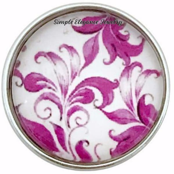 Deep Rose Snap Charm Collection 20mm (5 Choices) - 106 - Snap Jewelry