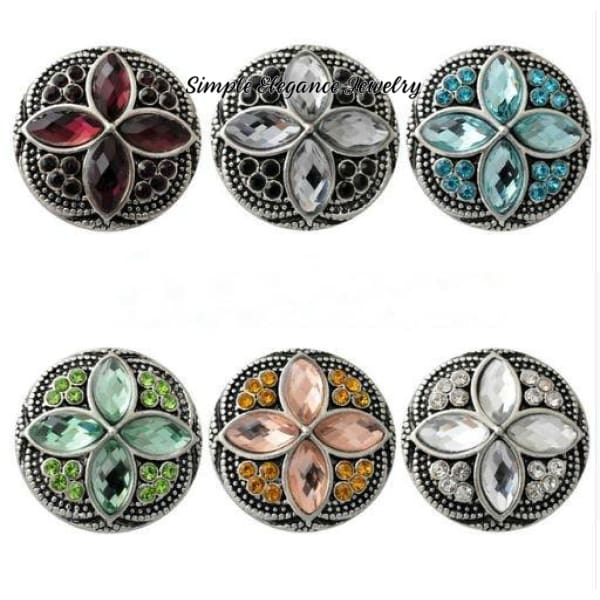 Diamond Pattern Rhinestone 20mm Snap-Snap Charm Jewelry - Snap Jewelry