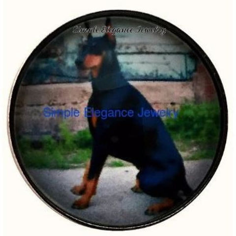 Doberman Pinscher Dog Snap 20mm - Snap Jewelry
