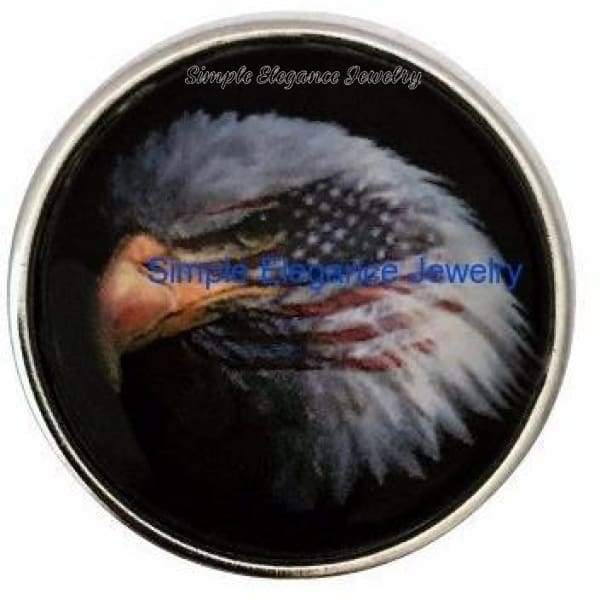 Eagle Flag Snap 20mm for Snap Charm Jewelry 18-20mm - Snap Jewelry