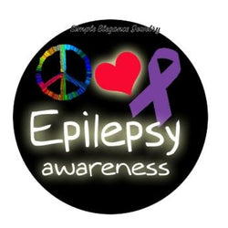 Epilepsy Awareness Snap Charm 20mm for Snap Jewery - Snap Jewelry