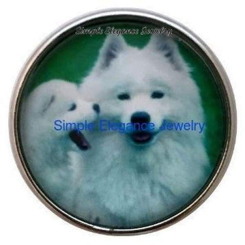 Eskimo Huskey Dog Snap 20mm - Snap Jewelry