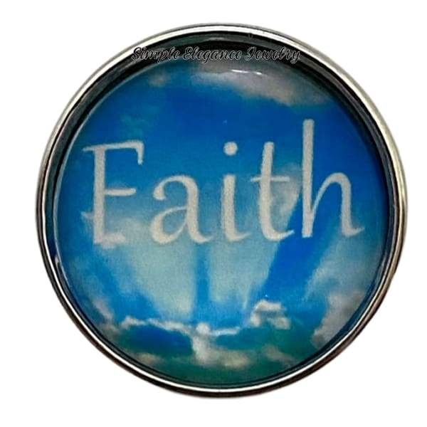 Faith Snap Charm 20mm - Snap Jewelry