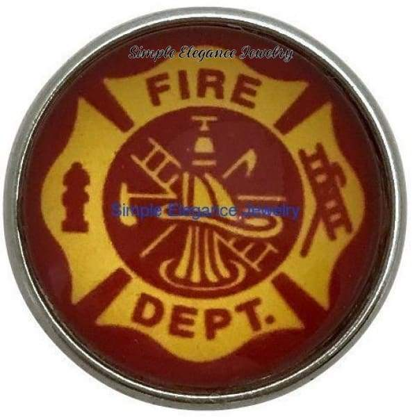 Fire Fighter Snap 20mm for Snap Jewelry - Snap Jewelry