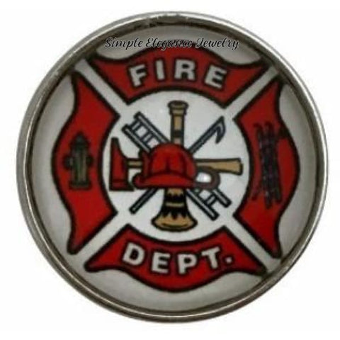 Fire Department Snap Charm 20mm for Snap Jewelry - Snap Jewelry