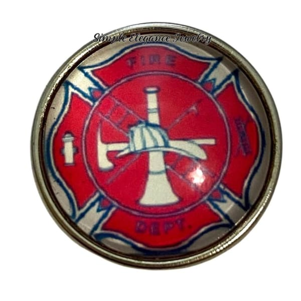 Fire Department Snap Charm 20mm - Snap Jewelry