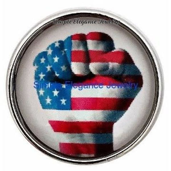 Flag Fist Snap 20mm for Snap Jewelry - Snap Jewelry