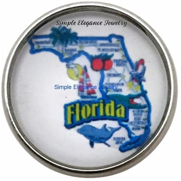 Florida State Snap 20mm for Snap Charm Jewelry - Snap Jewelry