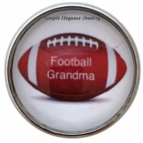 Football Grandma Snap Charm 20mm for Snap Jewelry - Snap Jewelry