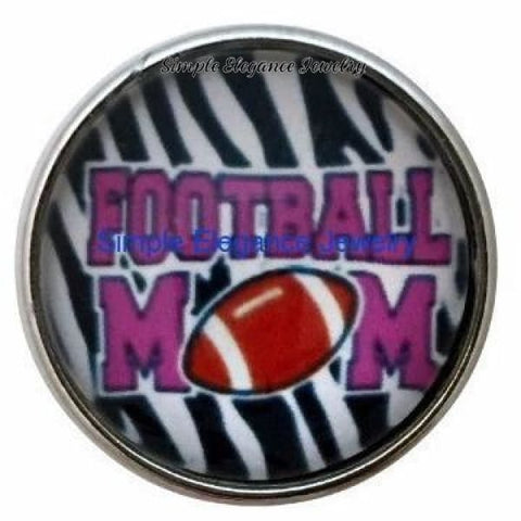 Football Mom Snap 20mm - Snap Jewelry