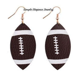 Football Vinyl Earrings - Earrings