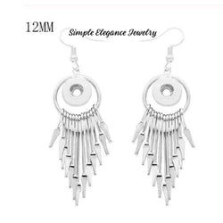 Fringe Drop Dangle Snap Earrings - Snap Jewelry