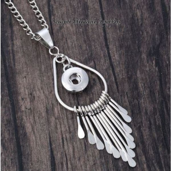 Fringe Snap Necklace for Snap Charm Jewelry - 12mm - Snap Jewelry