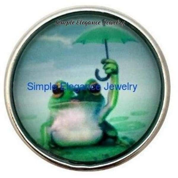 Frog Umbrella Snap 20mm - Snap Jewelry