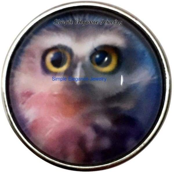 Fuzzy Owl Snap 20mm for Snap Jewelry - Snap Jewelry