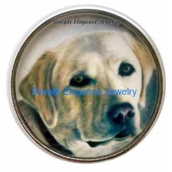 Golden Labrador Dog Snap 20mm - Snap Jewelry