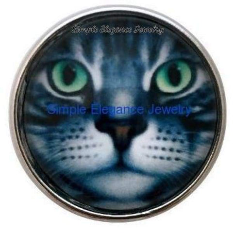 Gray Cat Snap 20mm - Snap Jewelry