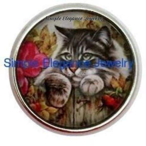 Gray Cat Snap 20mm for Snap Charm Jewelry - Snap Jewelry