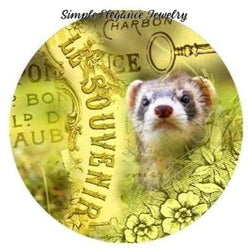 Gray Ferret Snap Charm 20mm - Snap Jewelry