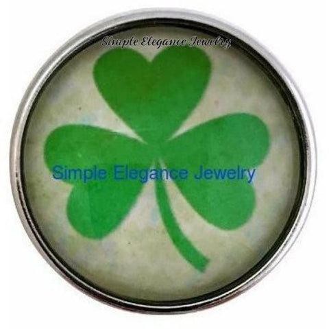 Green Clover Snap 20mm for Snap Jewelry - Snap Jewelry