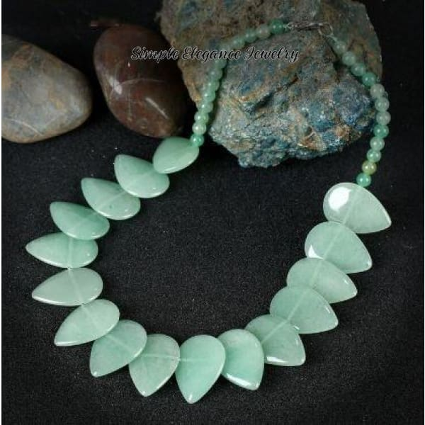 Green Onyx Stone Necklace (Optional Matching Bracelet) - Necklace - Natural Stone Necklaces