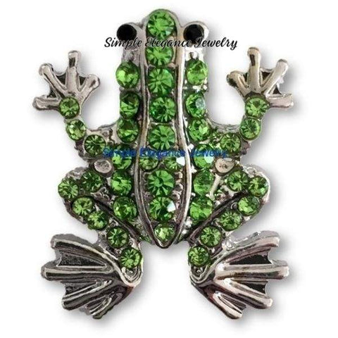 Green Rhinestone Frog Snap 20mm for Snap Jewelry - Snap Jewelry