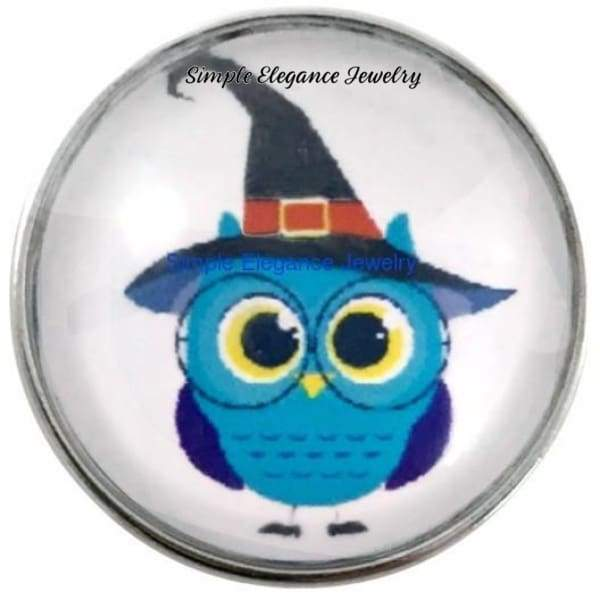 Halloween Owl 20mm for Snap Charm Jewelry - Snap Jewelry