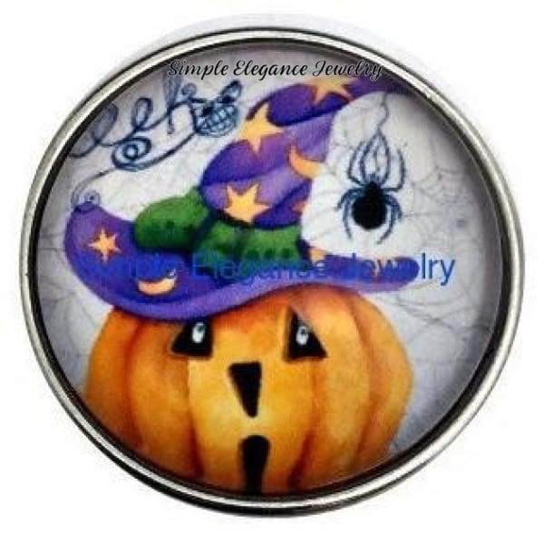 Halloween Pumpkin Spider 20mm Snap for Snap Charm Jewelry - Snap Jewelry