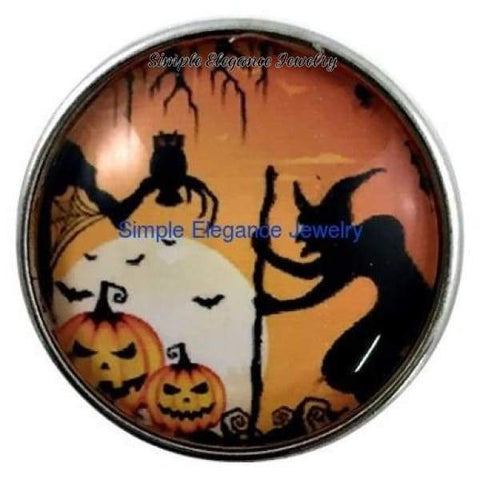 Halloween Witch Snap 20mm for Snap Charm Jewelry - Snap Jewelry