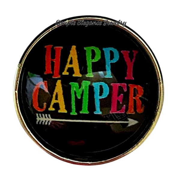 Happy Camper Snap Charm 20mm - Snap Jewelry