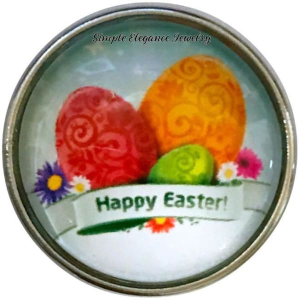 Happy Easter Egg Snap Charm-20mm for Snap Jewelry - Snap Jewelry