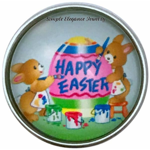 Happy Easter Snap Charm 20mm for Snap Jewelry - Snap Jewelry