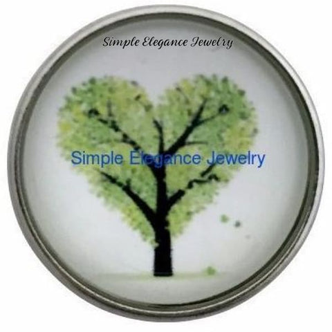 Heart Tree Snap 20mm for Snap Charm Jewelry - Snap Jewelry