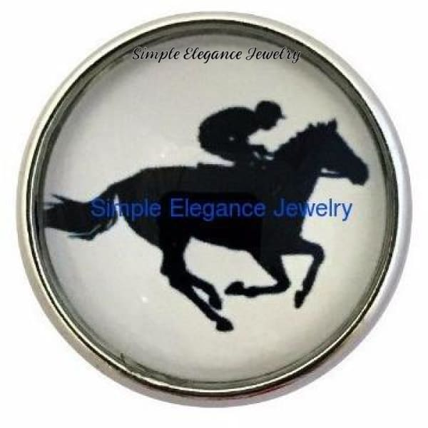 Horse and Rider Snap 20mm - Snap Jewelry