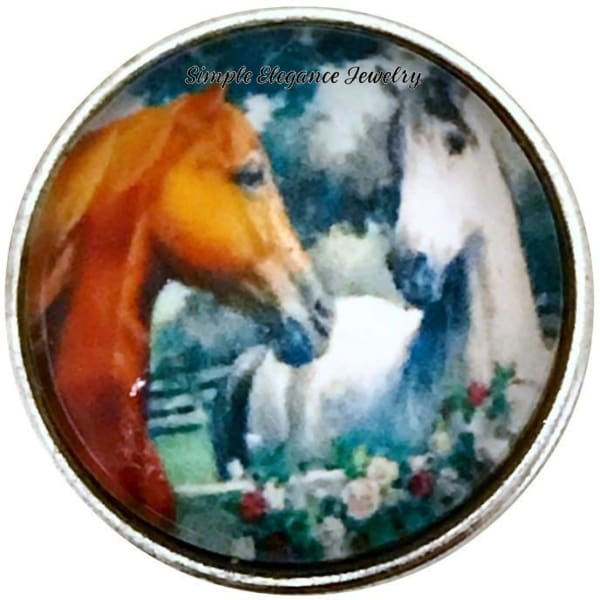Horse Pair Snap 20mm for Snap Jewelry - Snap Jewelry