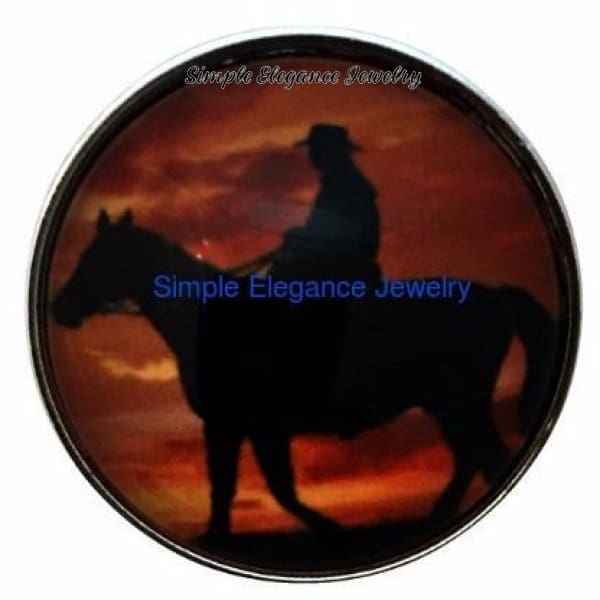 Horse-Rider Snap 20mm - Snap Jewelry