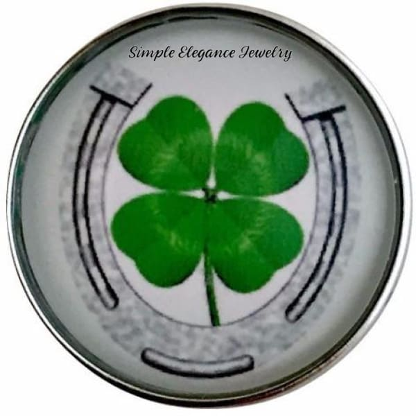 Horse Shoe-Clover Snap 20mm for Snap Jewelry - Snap Jewelry