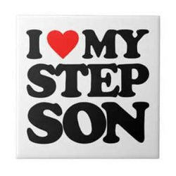 I Love My Stepson Snap Charm 20mm - Snap Jewelry