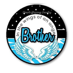In The Wings Of An Angels Brother Snap Charm 20mm - Snap Jewelry