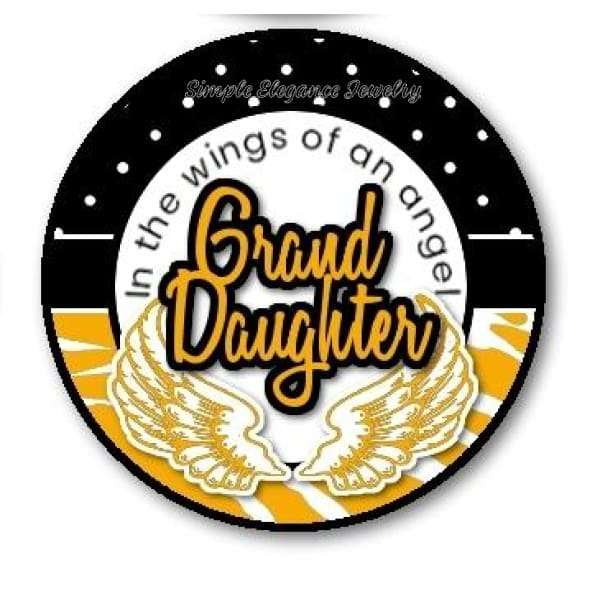 In The Wings Of An Angels Grand-daughter Snap Charm 20mm - Snap Jewelry