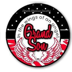 In The Wings of The Angel Grandson Snap Charm 20mm - Snap Jewelry