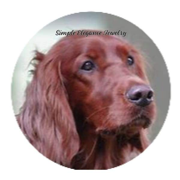 Irish Setter Dog Snap Charm 20mm - Snap Jewelry